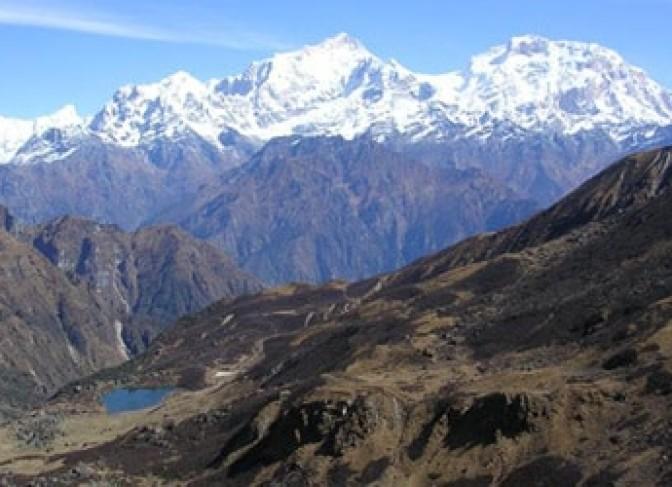 Lamjung himal and Annapurna range