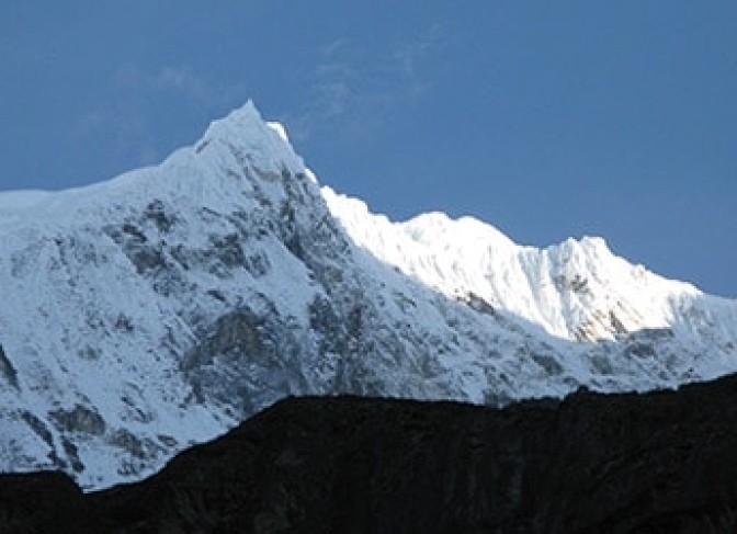 Tamang Heritang Trail langtang valley trekking- Langtang Lirung view from Kyangjing Gompa