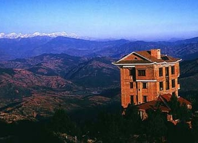 The Himalaya view from Nagarkot including Mt. Everest(8848m)