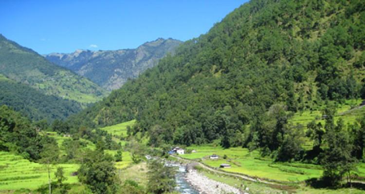 Bhurungdi River in Ghorepani trekking