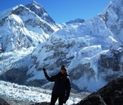 Trekking in the Himalayas  base camp Everest mountain