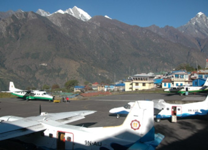 Everest helicopter trekking - Lukla airport