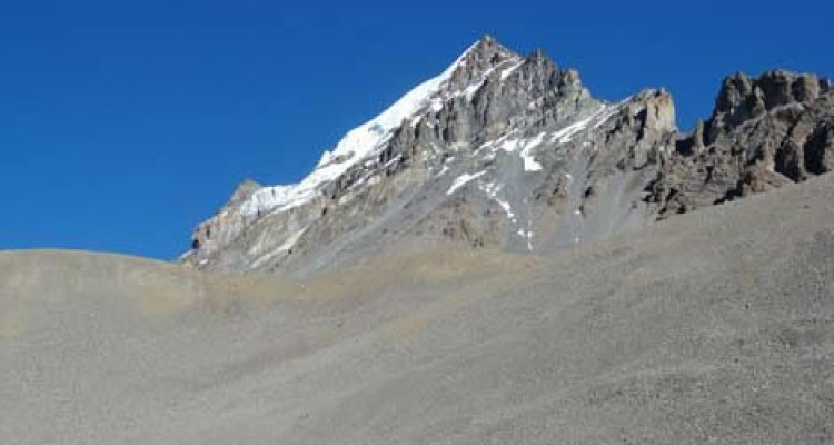 Himalayan landscape in Mustang