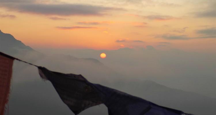 Sunrise taken from Badal Danda (3,200m)