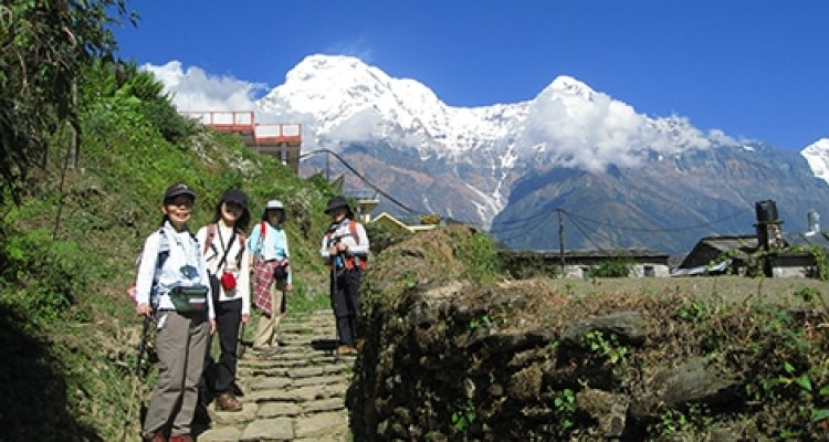 Poon Hill Trekking- Ghandring village and Annapurna South(7219m)