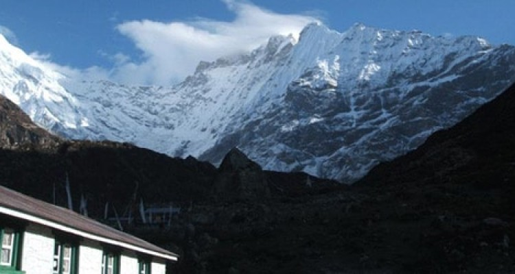 Langtang lirung (7246m/23766ft) other small mountain – taken from kyanjin gompa