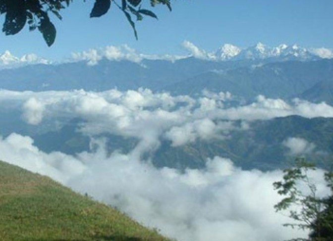 Scenic-View-from-hiking nepal camping trekking