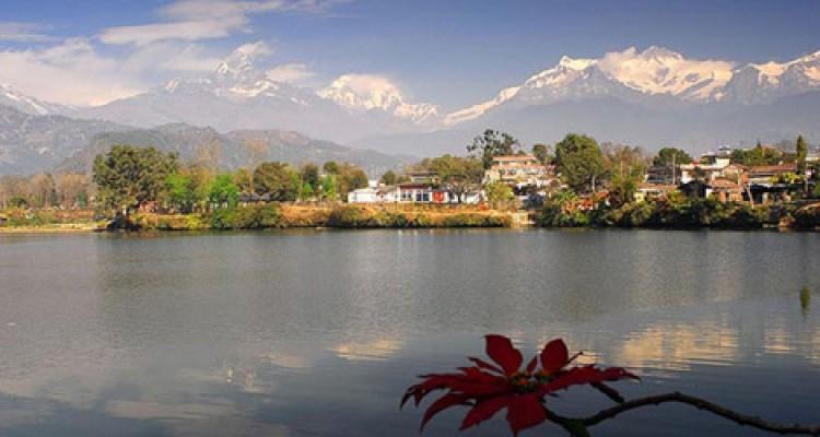 Phewa Lake and Annapurna Montain Range