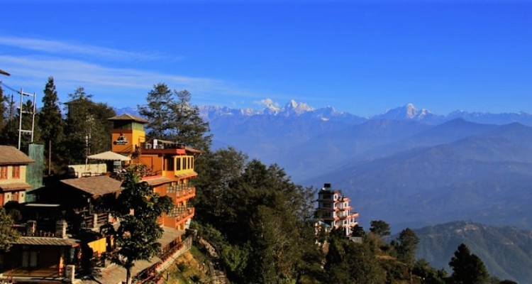 Himalayas view from Nagarkot