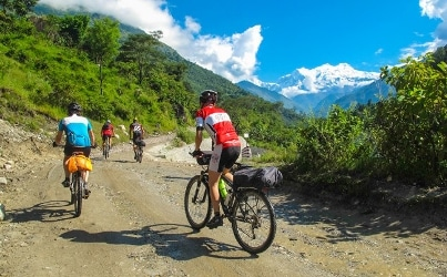 Annapruna circuit mountain bike tour