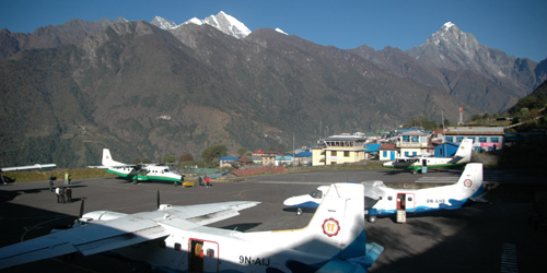Everest Panorama Konde Trekking- Lukla airport