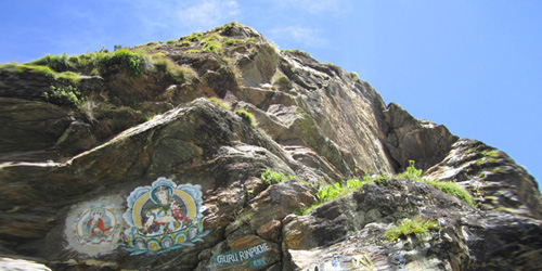 Holy Buddhist stone in Everest region
