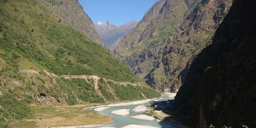 Marsyangdi River in Manang