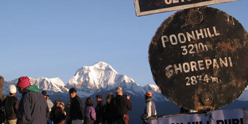 Annapurna Sanctuary and Poon Hill Trek-  sunrise view from Poon Hill (3210 m)