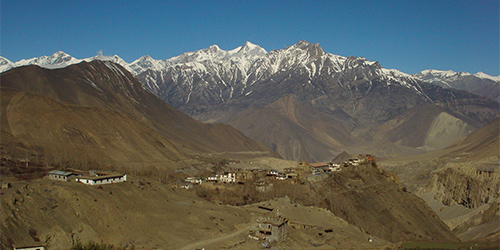 The part of lower Mustang near Muktinath - Taken from Muktinath