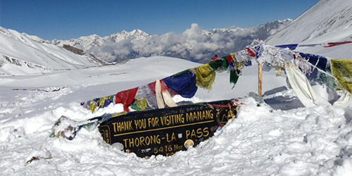 Throng-La pass (5416m)-Taken from Throng pass.
