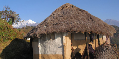 Traditional house in royal trekking region