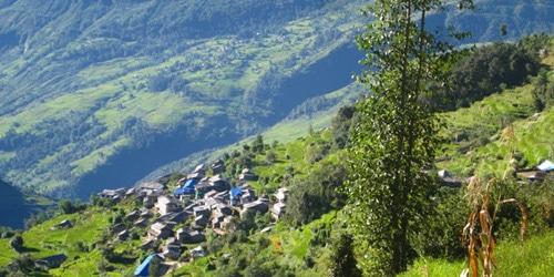 Ulleri village in Annapurna Ghorepani Trekking