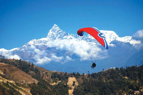 Paragliding in Pokhara valley - Adventure weekend breaks in Nepal