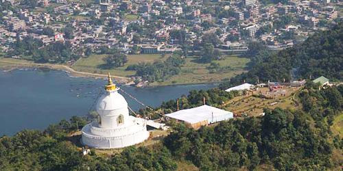 World Peace Stupa and Pokhara City