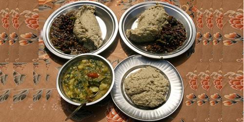 Buck wheat rice, curry in local house at Helambu Trekking