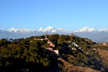 Himalayan mountian view from Nagarkot