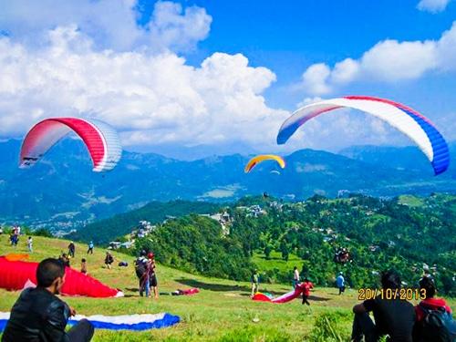 Nepal Adventure Tour- Sarankot paragliding.Enjoy the view of Machhapuchhre Mountain(6996m) and Annapurna Mountain range