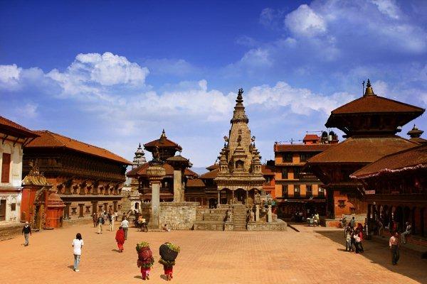 Nepal Tour- Bhaktapur Durbar Square: Major attractions Bhaktapur is 55 Window Palace,Golden Gate,Nyatapola Temple and Bhairava Nath Temple