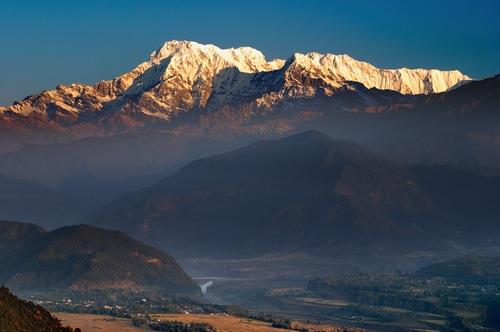 Nepal Tour- Amazing sunrise view from Sarankot in Annapurna Mountain range