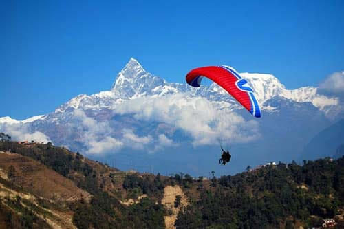 Nepal Tour- Paragliding in Nepal Pokhara