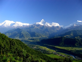 Nepal Tour- Sarankot: Best view points of Mt. Annapurna Range, Mt. Dhaulagiri, Mt. Lamjung to the north.