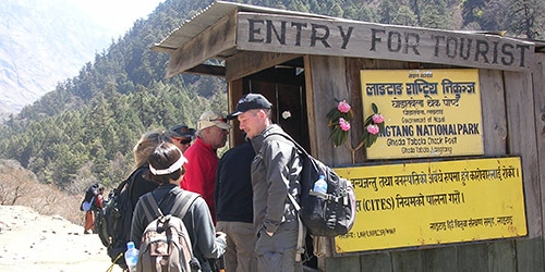 Tamang Heritage Trail and Langtang valley trekking- Langtang National Park tourist check point