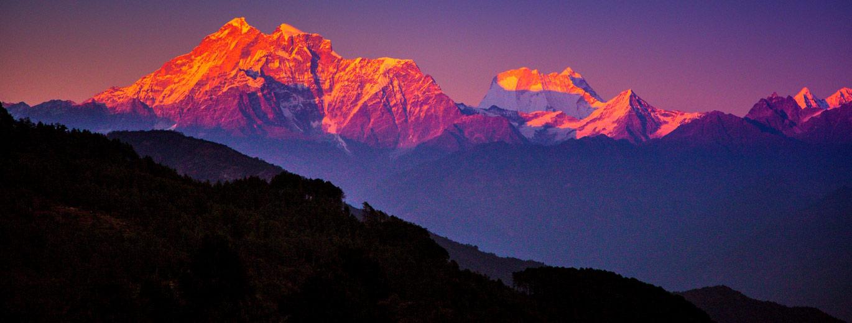 Sunset on Himalayas