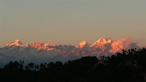 Sunset View from Nagarkot - Adventure weekend breaks in Nepal