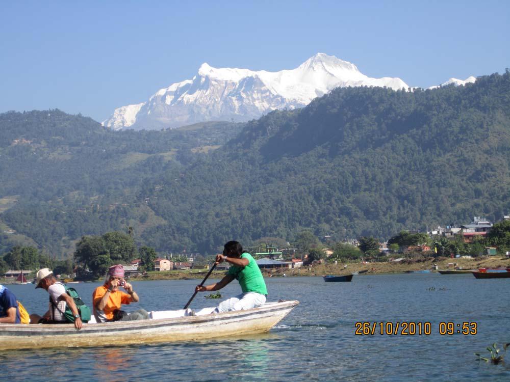 Nepal honeymoon tour- Boating in Fewa Lake Pokhara