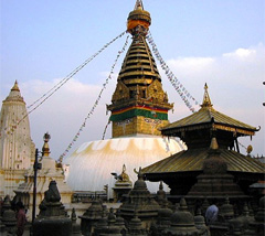 Annapurna Sanctuary and Poon Hill Trek- Kathmandu valley sightseeing Tour- SwayambuNath Temple