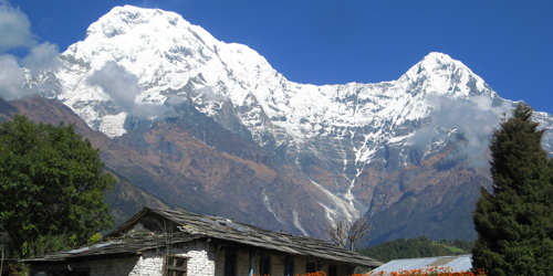 Ghandrung village and  Annapurna south