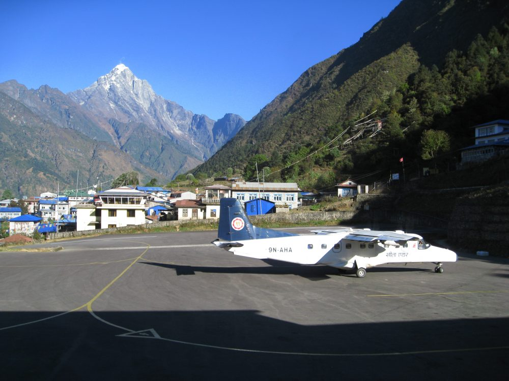Family Adventure holiday to Mount Everest - Lukla Airport (2880m)