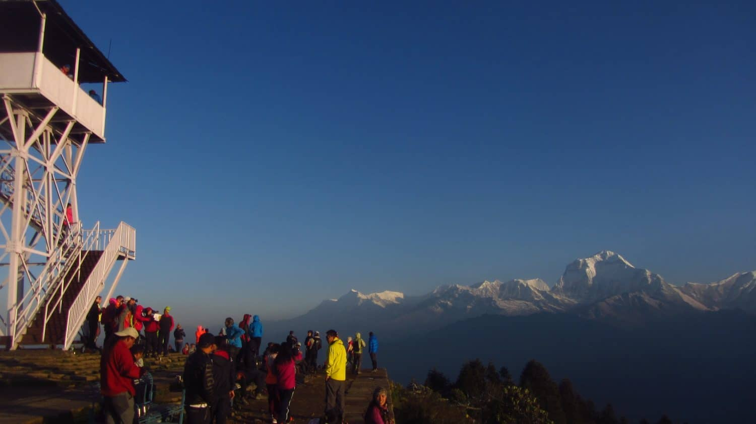 Family adventure  winter vacation  trek with Kids Annapurna  Poon Hill