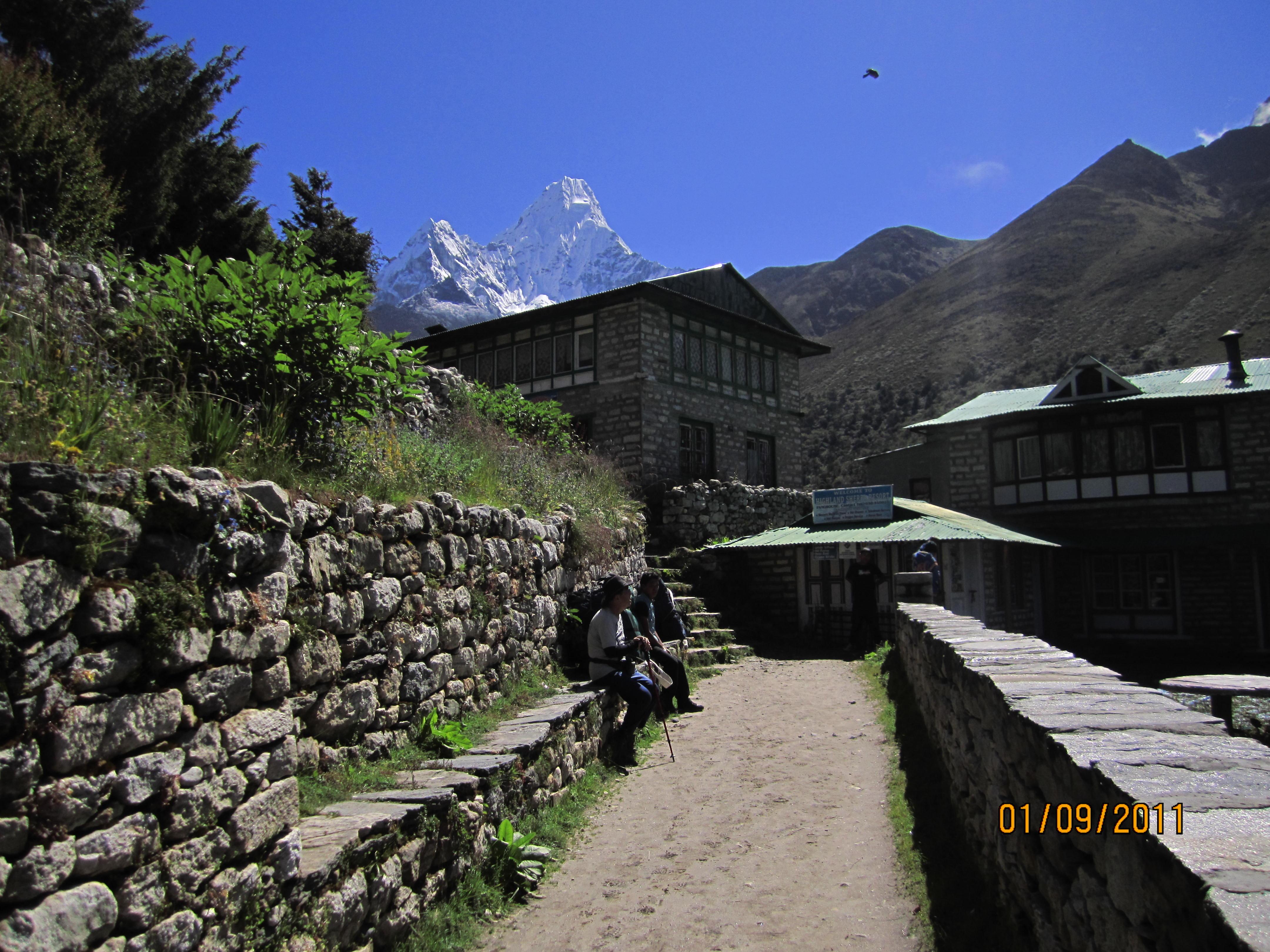 Khumbu valley trekking -  Pangboche village
