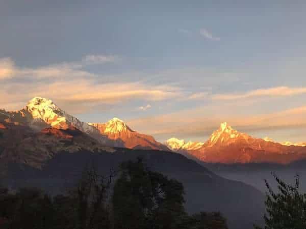 Annapurna view trek- The view from Tadapani