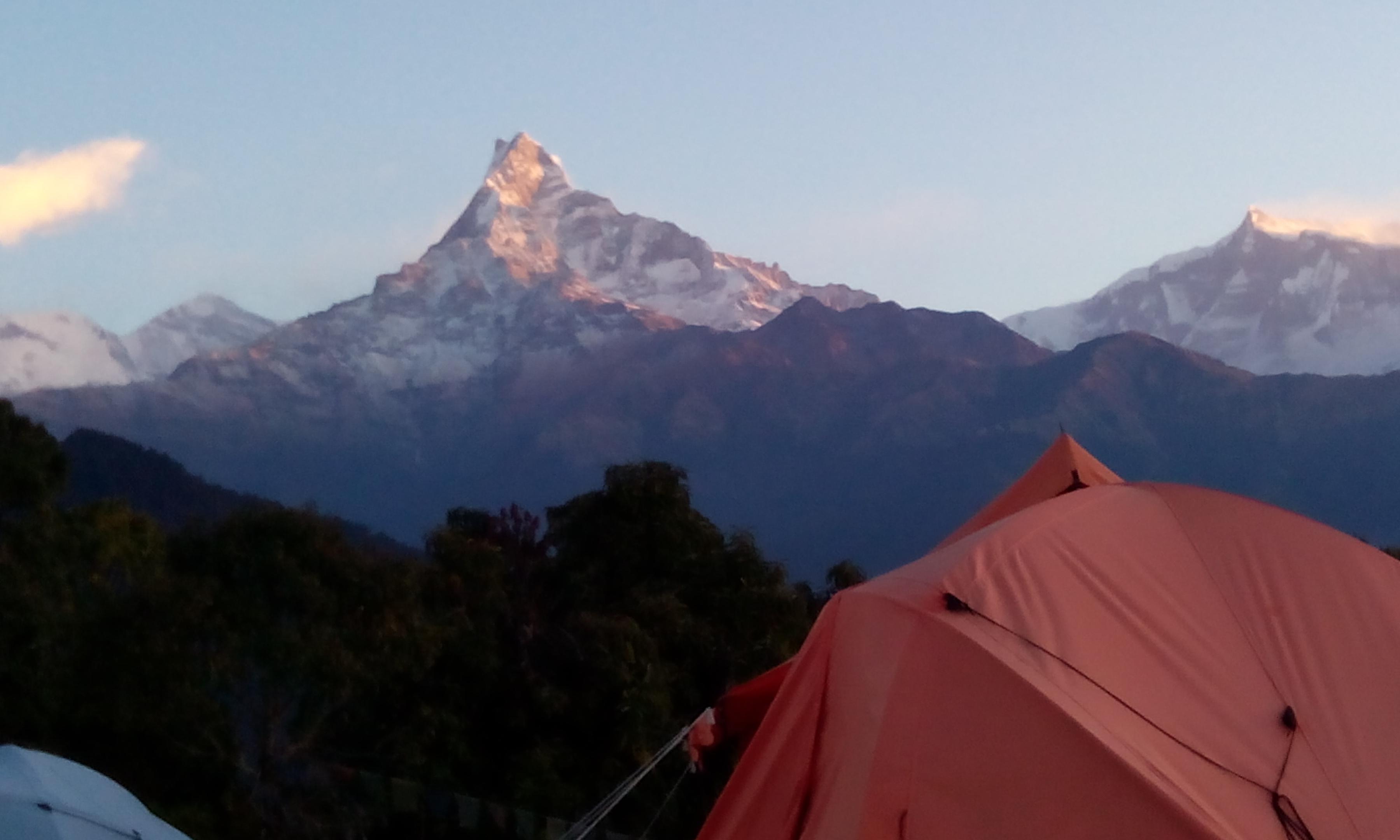 Dhampus trek- Australian camp- Machapurchre himal(6696 m)