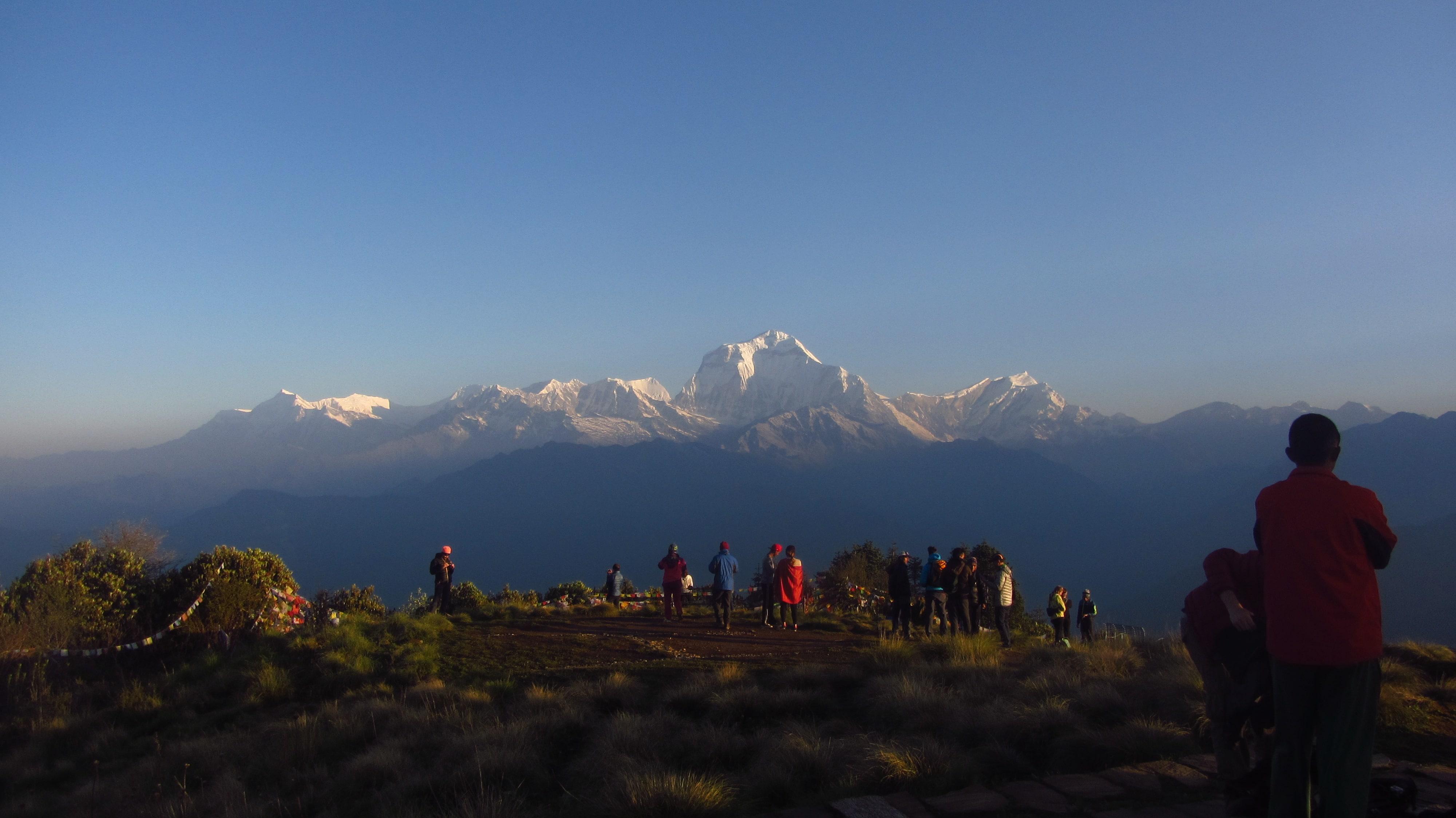 Annapurna sunrise trek- Sunrise View from Ghorepani Poon Hill (3210 m)