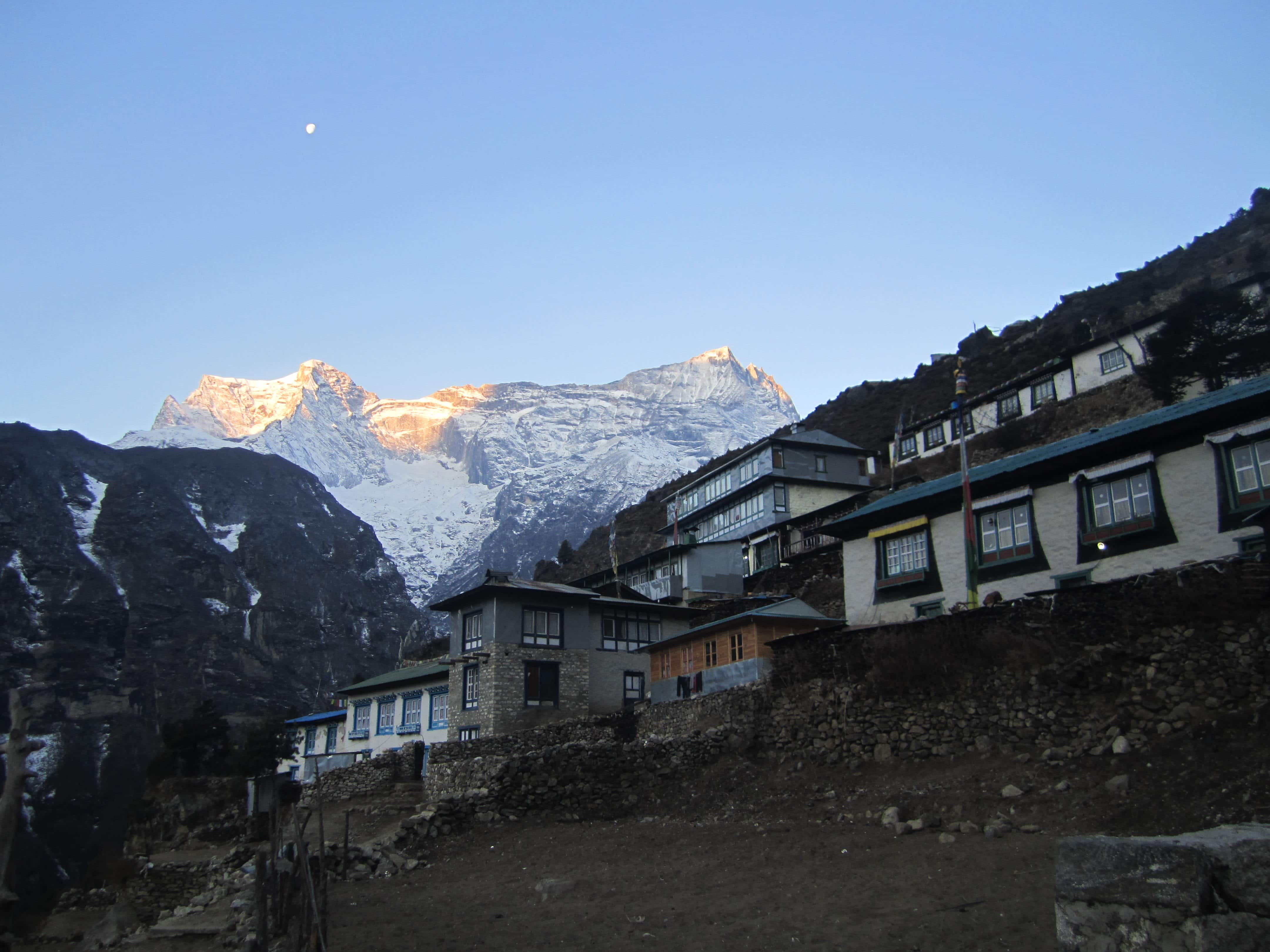 Budget Everest base camp trek-Namche Bazaar (3444 m)