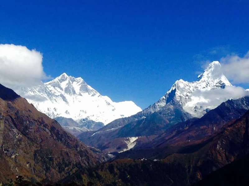 Kala Pattar Trek- Panoramic view from Syangboche (3780 m)