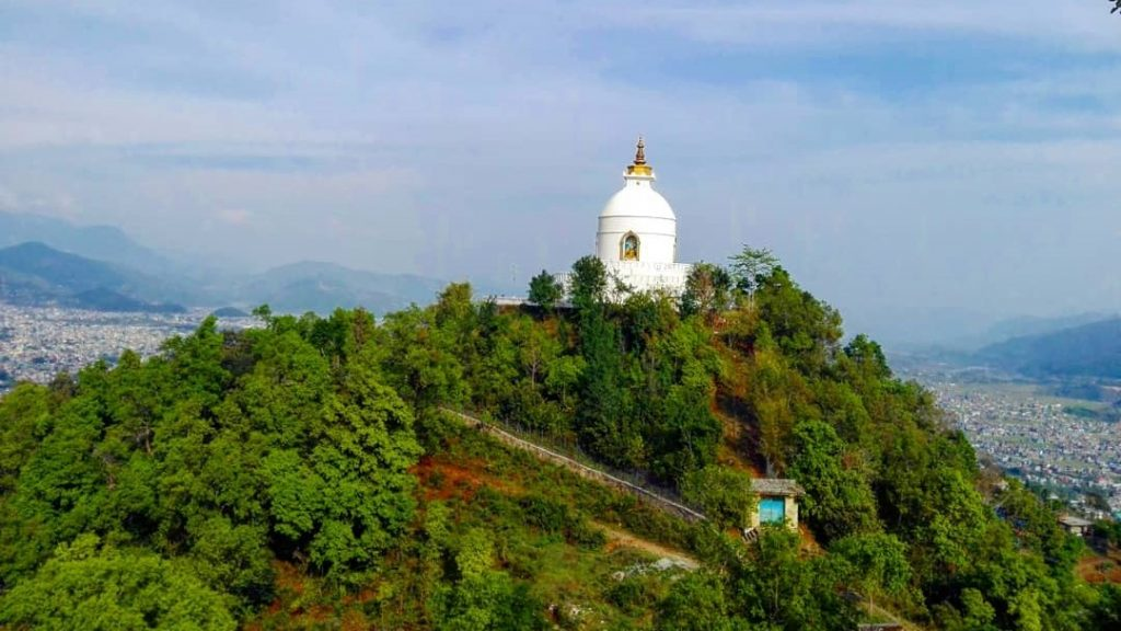 Best hikes in Nepal - World peace pagoda hiking